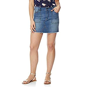 WallFlower Women's Juniors Denim Skirt