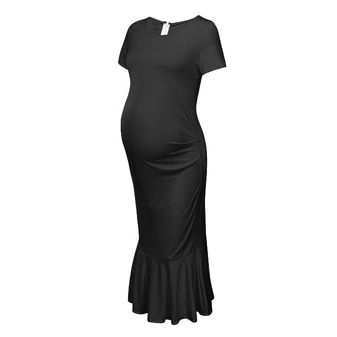 Vestido Premamá, Gusspower Ropa Embarazada Cuello Redondo Vestido ...