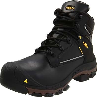 "KEEN Utility Men's Portland PR 6"" Aluminum Toe Work Boot,Black,7 2E US"