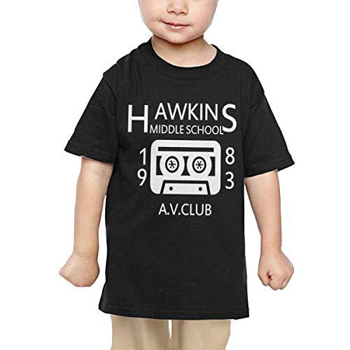 Price comparison product image Pipi66xiami Baby Hawkins Middle School AV Club Unisex Infants Crew Neck Short Sleeve Tee