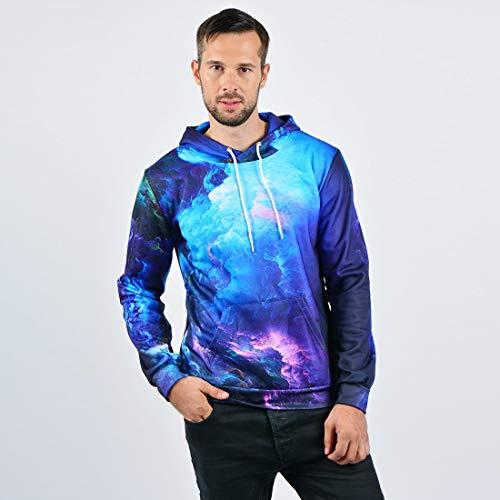 Nebula Sweatshirts Star And With Hommes 3d Sweats Doublure Polaire À Grande Graphic Longue Manche En Poche Capuche Fanient az8gwqq
