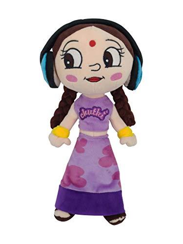 Chhota Bheem Chutki Plush Toy with Headphone   33cm