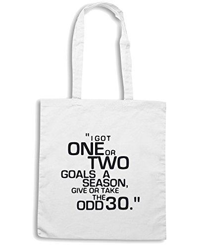 T-Shirtshock - Bolsa para la compra WC1021 brian-clough-goals-quote-tshirt design Blanco