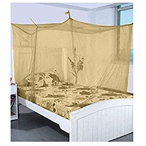 Anand Textile Khakhi Color Poly Cotton Mosquito NET for King and Queen Size Bed/Double Bed – machardani Protection for…