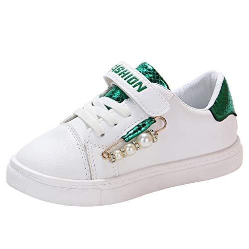 Orfilaly Baby Girls Sport Shoes Trainers Children Casual Flats Non-Slip Walking Sneakers Student Lightweight School Shoes Green