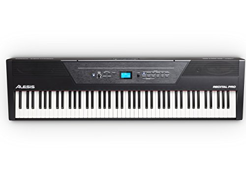 Alesis Recital Pro | Digital Piano / Keyboard with 88 Hammer Action Keys, 12 Premium Voices, 20W Built-in Speakers, Headphone Output and Educational Features by Alesis (Image #5)