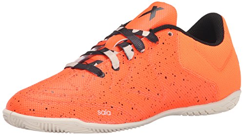 adidas X 15.3CT J Tacos para Fútbol (Little Kid) Solar Orange/Black/Chalk White