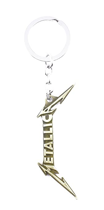 Amazon.com: Llavero de metal llavero Metallica Logo de la ...
