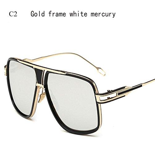 Solnuevo Gafas Hombres De Conductor Espejo C3 Sobredimensionado De Cuadrado Degradado Superior Limotai C6 De Lente Gafas De Gafas Gafas EwxvdxOq