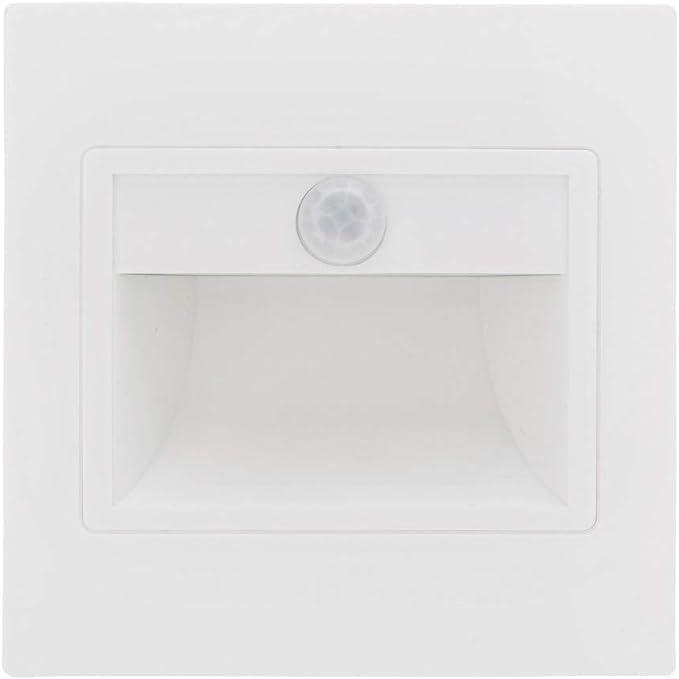 Greenice | Luz LED Empotrar IP 40 con Sensor Pir 1,5W 165Lm 30.000H Isabel | Blanco Cálido: Amazon.es: Iluminación