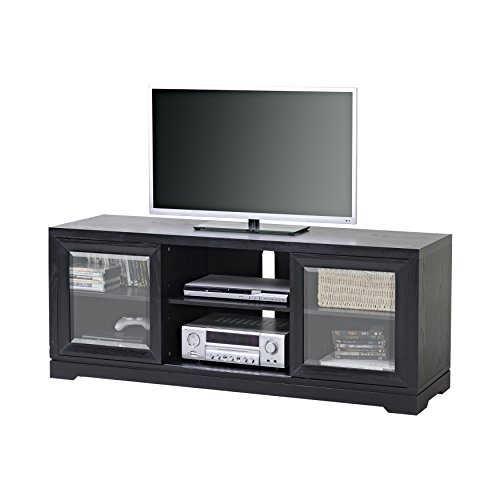 Homestar Sliding Door TV Stand in Balck