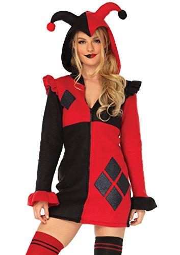 Cartoon Harley Quinn Costume (Leg Avenue Women's Costume, Red/Black,)
