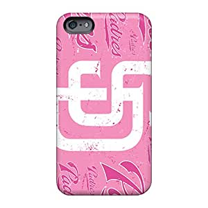 Anti-Scratch Hard Phone Covers For Apple Iphone 6 With Allow Personal Design Vivid San Diego Padres Pattern JohnPrimeauMaurice