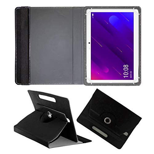 Fastway Rotating Leather Flip Stand Case Cover for Swipe X1 Tablet (10.1 inch 4G+Voice Calling) Black