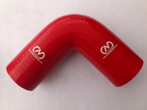 90 Degree Silicone Elbow Bend Hose Rubber Coolant Radiator Intercooler 51mm RED:
