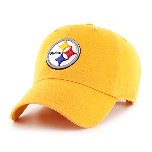 NFL Pittsburgh Steelers Male OTS Challenger Adjustable Hat, Gold, One Size