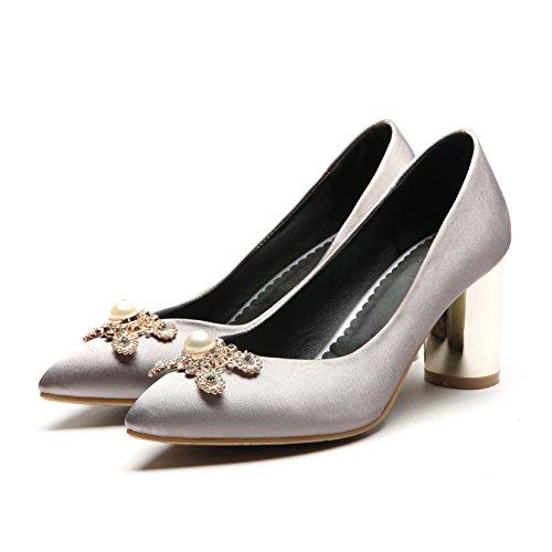 Damen Mode Komfort Schnürer Turnschuhe Flache Schuhe Sneakers Fitnessstudio Fitness Pumps - Silber/glänzend, EU 38