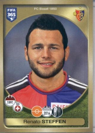fan products of 2016-17 Panini FIFA 365 #224 Renato Steffen FC Basel 1893 Soccer Sticker