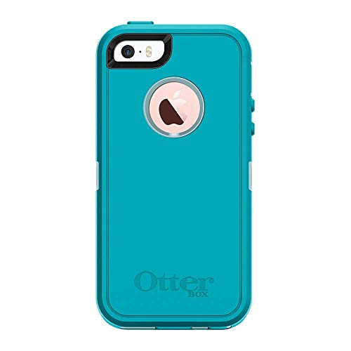 Rugged Protection OtterBox Defender Case for iPhone 5, 5S and SE - Case Only - Morning Mist (Bahama Blue/Light Teal)