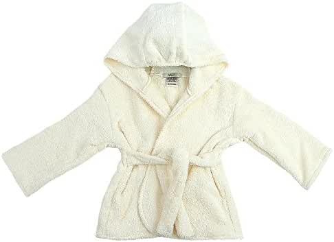 My Blankee Organic Hooded Bath Robe, Ivory, 6-12 Months