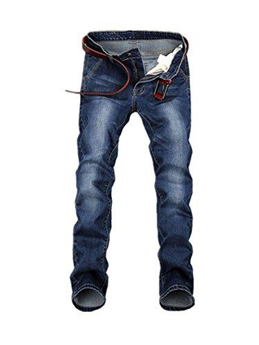Phillip Dudley New Large Plus Size 42 44 46 48 Blue Elastic Men Jeans Slim Fit Straight Denim Pants Skinny Homme 46 Homme Denim Pants