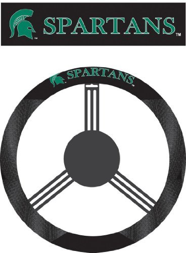Fremont Die NCAA Michigan State Spartans Poly-Suede Steering Wheel Cover