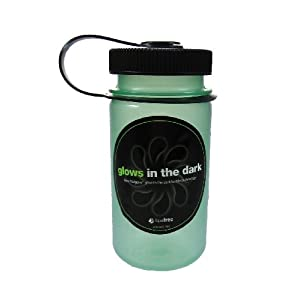 Nalgene Mini-Grip Glow Green Water Bottle (12-Ounce)