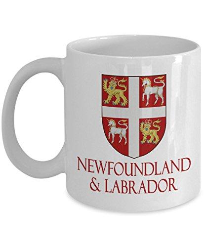 - Newfoundland and Labrador, Canada - Coat of Arms: Ceramic Coffee Mug