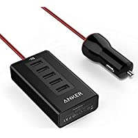 Anker 50W 5-Port USB Car Charger with PowerIQ Technology (Black)