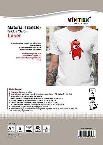 Transfer textil imprimible para láser (Tejidos claros ...