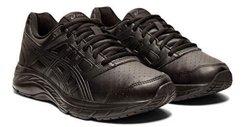 ASICS Gel-Contend 5 SL Women's Walking Shoes, Black/Graphite Grey, 7.5 M US (Shoes Asics Walking Gel)