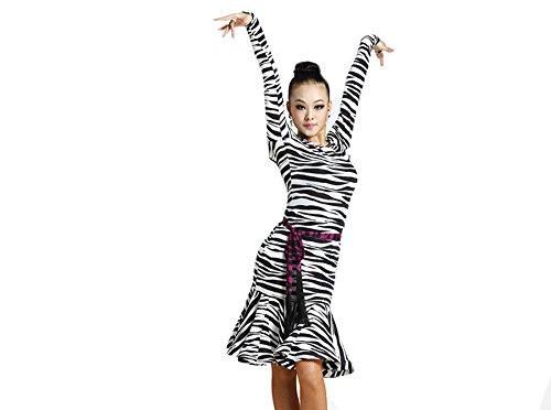 Motony Women Latin Dance Dress Latin Training Dress Ballroom Costume Adult Dance Practice Performance Skirt