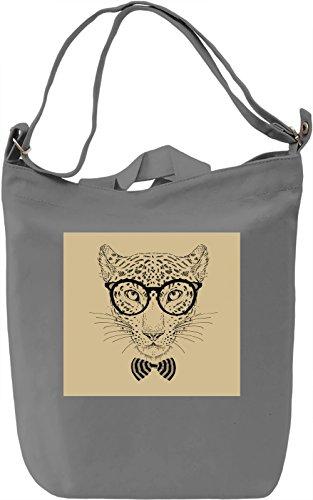 Leopard Borsa Giornaliera Canvas Canvas Day Bag  100% Premium Cotton Canvas  DTG Printing 