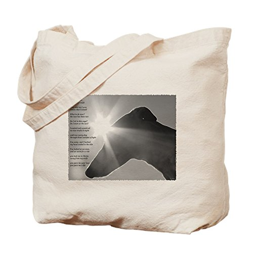 CafePress Greyhound Poem Natural Canvas Tote Bag, Cloth Shopping Bag