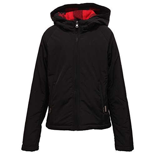 Kid Jacket Woolrich Nero Giubbotto Pile rosso Reversible 6904t Bimbo vnUgA1qwx
