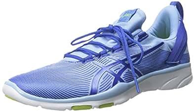 ASICS Women's GEL Fit Sana 2 Fitness Shoe, Blue Bell/Blue Purple/Lime, 5 M US