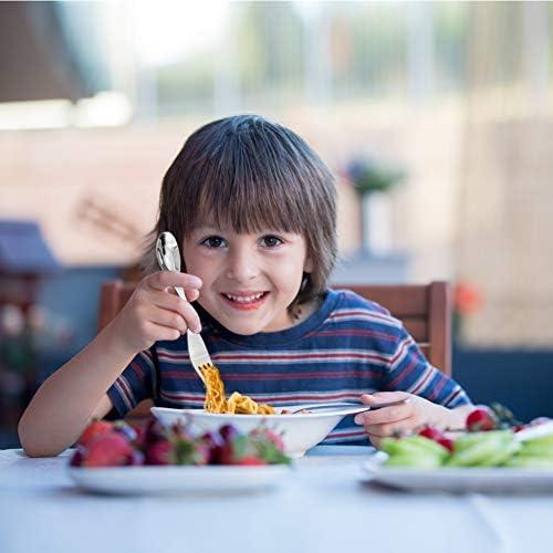 Cubiertos Camping Cuchara Tenedor Portátil Tenedores Acero Inoxidable para Mesa Casa Camping 2 piezas