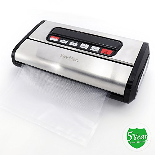 Kiartten Vacuum Sealer, A Fresh Food Locker for Your Kitchen. Keeps Food Fresh Up To 5X Longer. (Stainless Steel) by Spreaze (Image #8)'