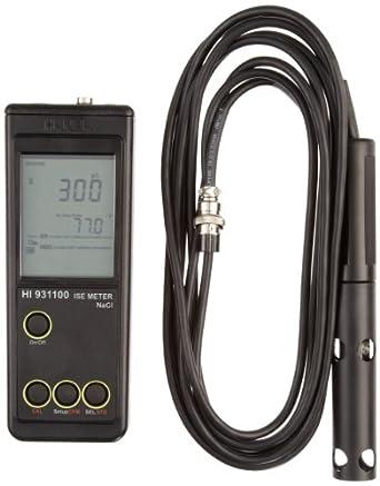 Hanna Instruments HI 931100N Salinity and Sodium Content Measurement Meter, 0.150 g/L to 300 g/L Range