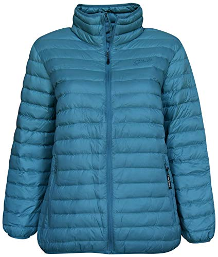 SportCaster Women's Plus Size Packable Down Jacket (4X, Lagoon)