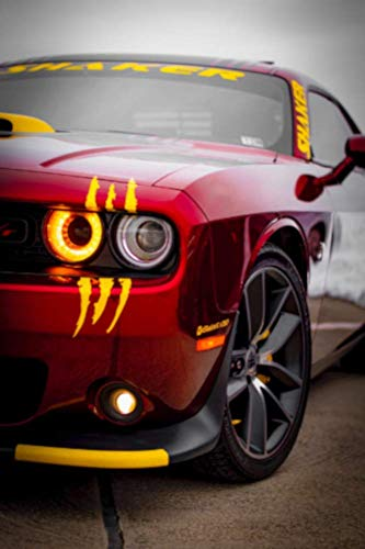 ViaVinyl Claw Marks Headlight Decal Available in Twelve Colors!. Genuine Brand Vinyl Sticker/Decal for Sports Cars (Yellow)