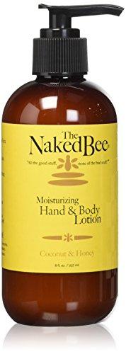 The Naked Bee Moisturizing Hand & Body Lotion, 8 Ounce, Coconut & Honey