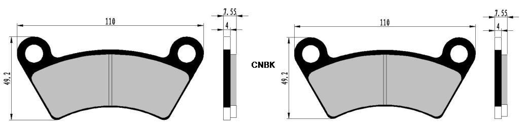 Carbon Bremsbacken Pad Setzen fit BOROSSI JOYNER ATV Bike BB650 BB 650 cc 650cc UV 4x4 4 Pads