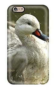 Durable Defender Case For Iphone 6 Tpu Cover(white Duck In Water)