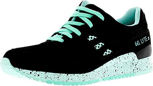 Asics Mens Gel-lyte Iii Fashion Sneaker Nero / Nero
