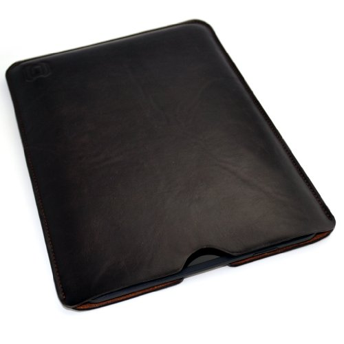 Dockem Kindle Fire HD 8 Sleeve; Synthetic Leather Dark Brown; Slim, Simple, and Professional Executive Case; Pouch Style Tablet Cover