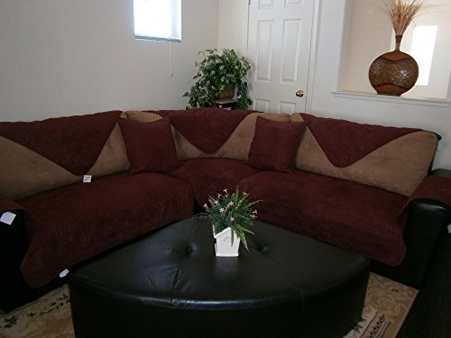 Fine Quilted 35X82 Burgundy Or Wine Bonded Or Classic Micro Suede Sectional Sofa Cover Pad Download Free Architecture Designs Momecebritishbridgeorg