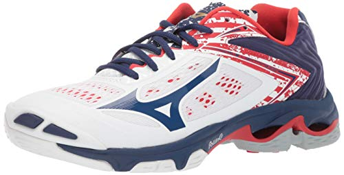 - Mizuno Women's Wave Lightning Z5 Volleyball Shoe, stars & stripes, 8 B US