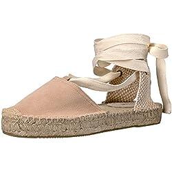 Soludos Women's Gladiator Sandal Flat, Cream, 9 B US