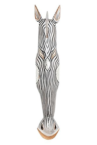 100cm Madera Maske Mascara Careta caratula Esculture Figura Cebra Jirafa Decoracion HM1000016: Amazon.es: Hogar